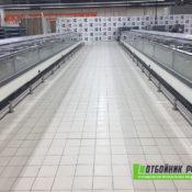 Отбойники для гипермаркета «Карусель» в СПб - фото работ 1